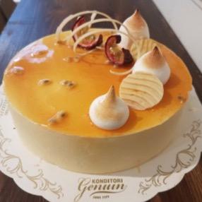 Konditori Genuin - Syrlig passionsfrukt & hallon