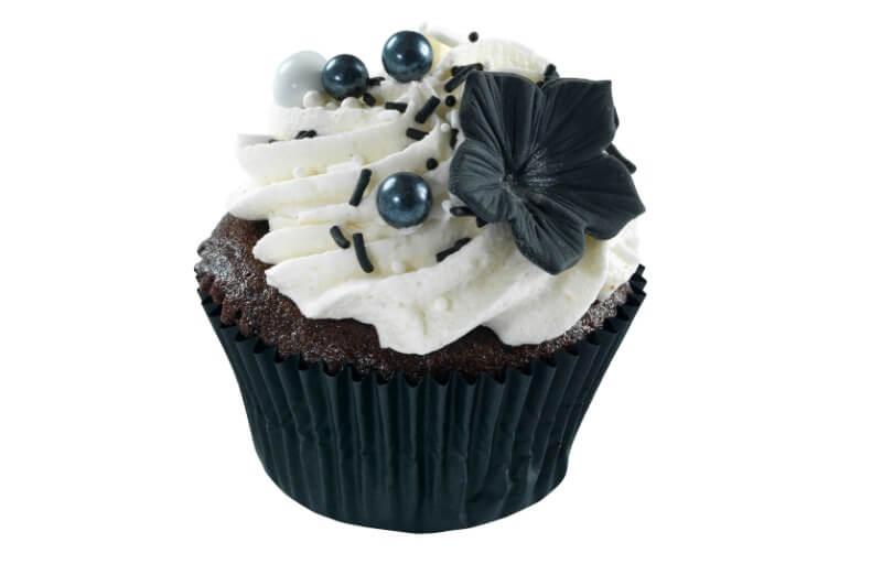 Nærbakst - Black & White Cupcake