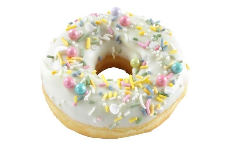 Cakes by Hancock - White Sprinkles Doughnut