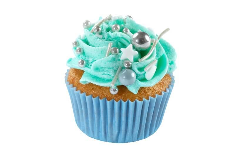 Nærbakst - Mini Baby Blue Cupcake