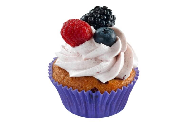Nærbakst - Forest Berries Cupcake
