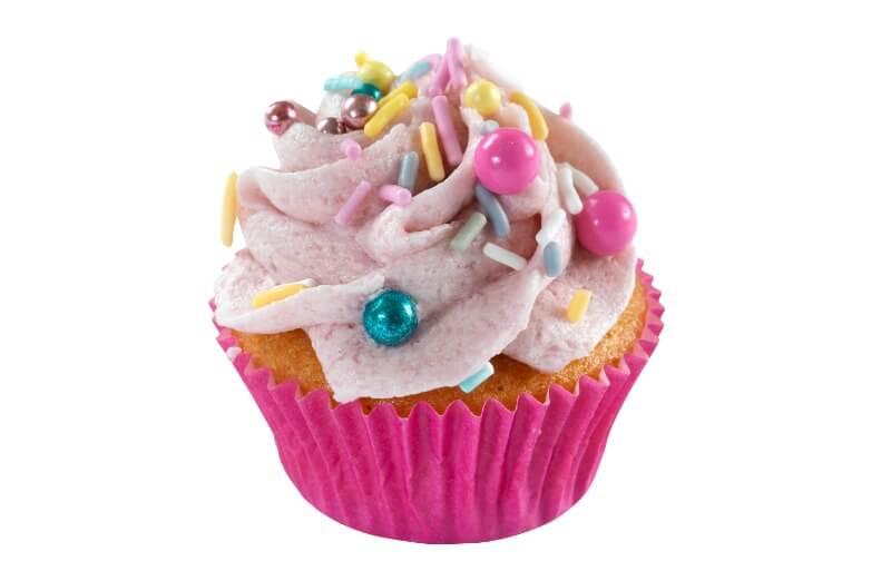 Hjemmebakeriet - Mini Pink Prinkles Cupcake