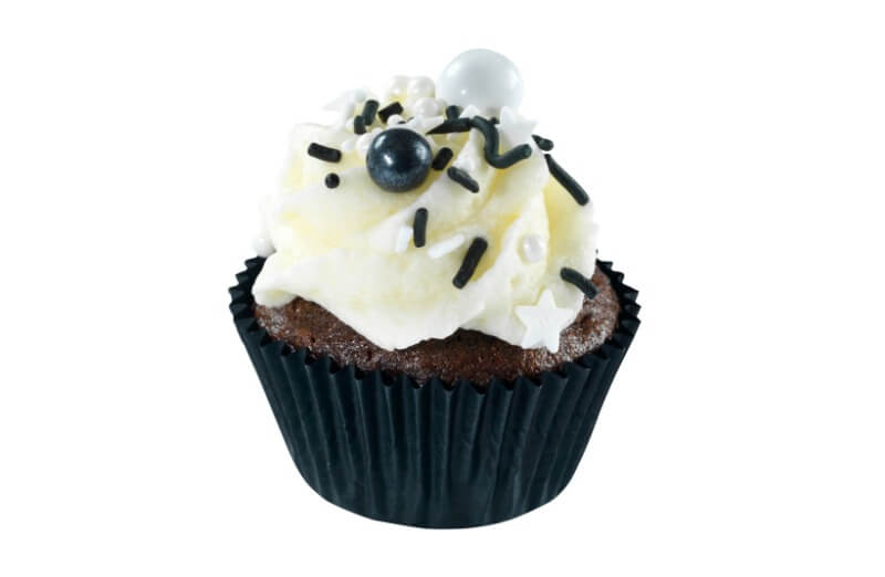 Nærbakst - Mini Black & White Cupcake