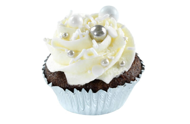 Nærbakst - Mini Silver Cupcake