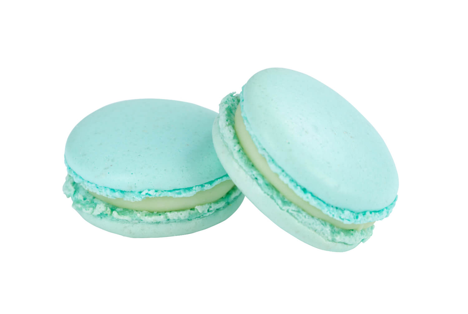 Cakes by Hancock - Baby Blue White Chocolate Macarons