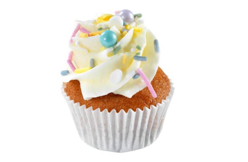 Hjemmebakeriet - Mini White Sprinkles Cupcake
