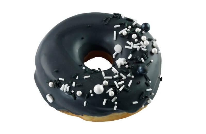 Nærbakst - Black & White Doughnut