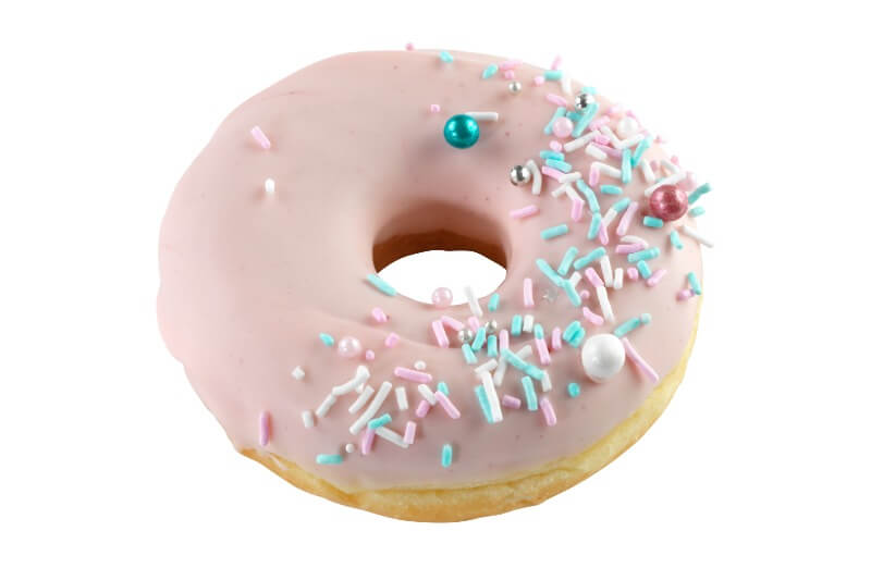 Nærbakst - Dark Pink Doughnut