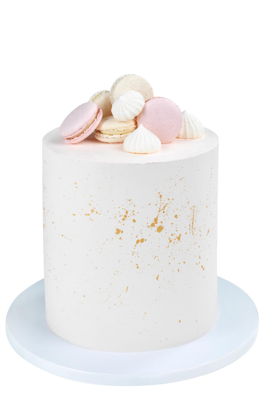 Cakes by Hancock - Gold Splash & Macarons
