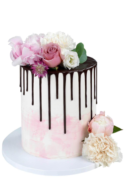 Cakes by Hancock - Chocolate Drip & Flowers