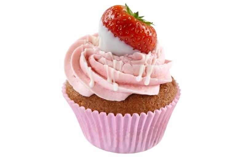 Nærbakst - Strawberry Cupcake