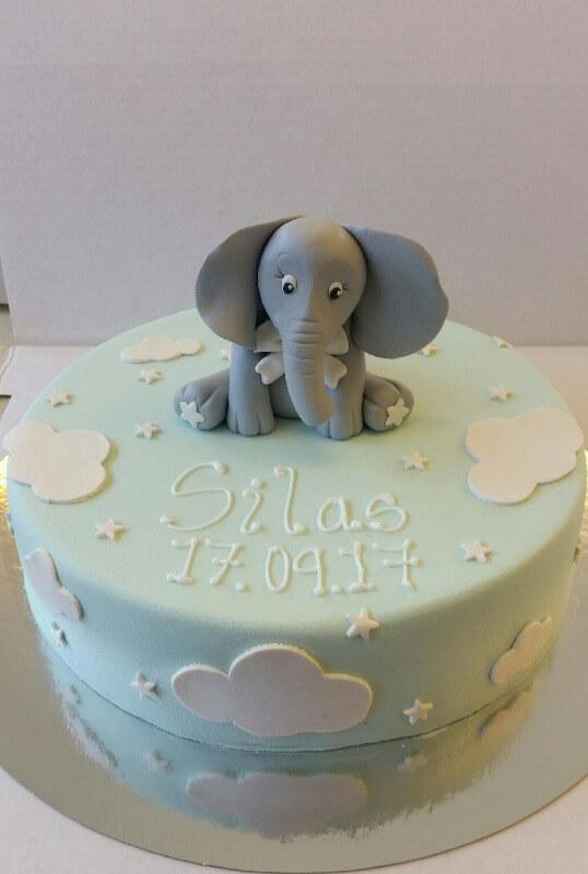 Ryfylket bakeri & konditori - Babykake med elefant