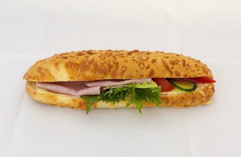 Tromsø Bakeri - Ostebaguett m/ ost og skinke