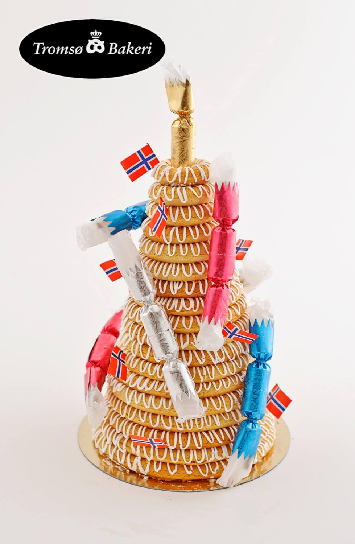 Tromsø Bakeri - Kransekake med glasur