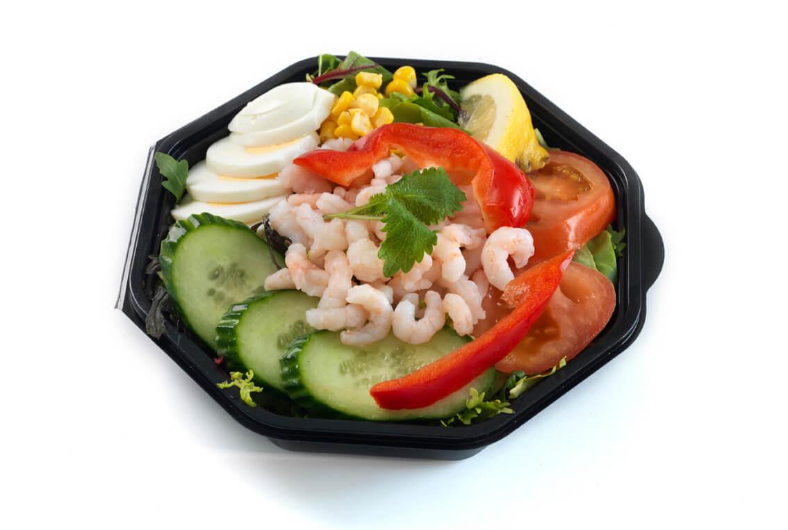 Nærbakst - Salat med reker