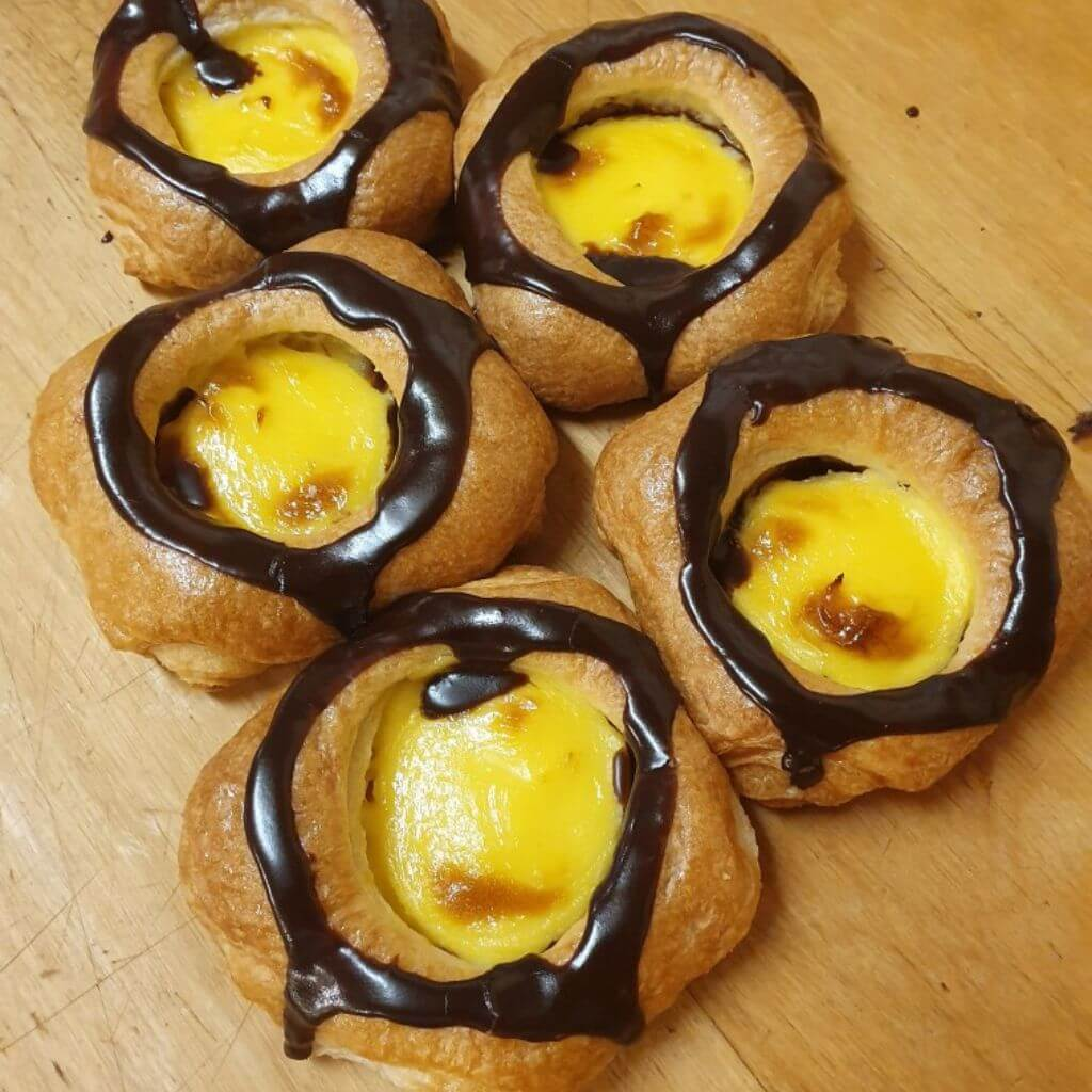 Ekbergs konditori - Wienerbröd med choklad