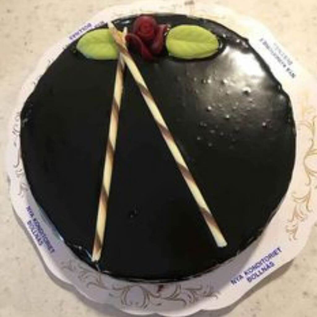 Nya Konditoriet i Bollnäs - Chokladtårta