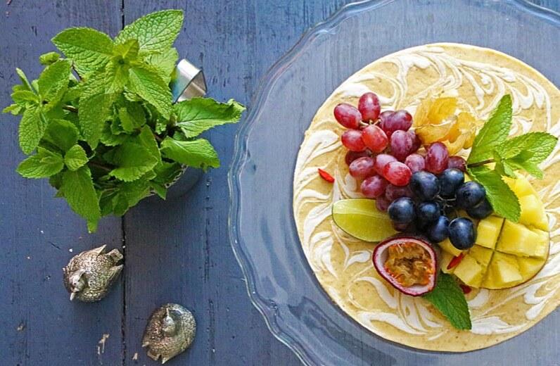 "Funky Fresh Foods - Mango ""Cheese"" cake"