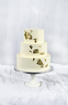 Cakes by Hancock - Goldleaf Bryllupskake
