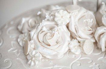 Rosenborg bakeri - Bryllupskake Silver Rose